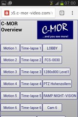 C-MOR Android Start Page
