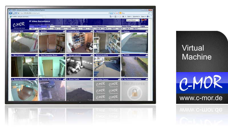 C-MOR Video Surveillance Software 15 Cams Overview