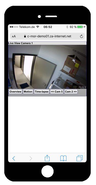 c mor video surveillance iphone. Black Bedroom Furniture Sets. Home Design Ideas